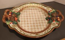 "Fitz & Floyd Home Fragrance Platter/Dish with Handles 14.5""--Excellent!"