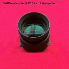 Projector Lens Led Diy F180mm Focal Length Projection Lcd Glass Home Cinema 1pc