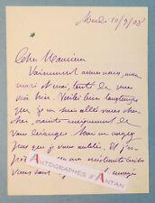 L.A.S 1908 Marie-Anne de BOVET Femme lettres féministe patriote née METZ Lettre