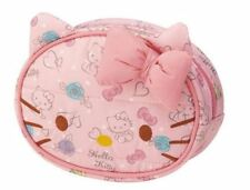 Pink Hello Kitty Cosmetics Makeup Pouch Bag Case Handbag Handle Pink Face Round