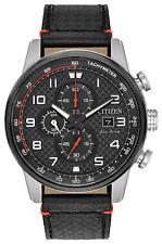 Citizen CA0681-03E Men's Eco-Drive Primo Leather Band Chronograph Watch