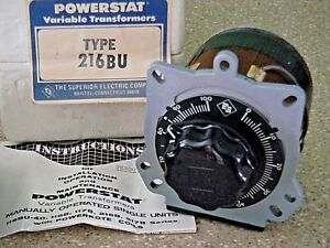 Superior Electric 216BU Powerstat Variable Transformer 240V 1 Phase 3.5A NOS