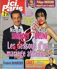Ici Paris 3266 - 05/02/2008 Mariage Carla Bruni Sarkozy Khorsand
