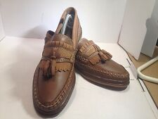 DERBY Man's Loafer Slip -on Brown Leather Shoes 10M US
