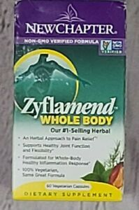 New Chapter Zyflamend Whole Body Joint Supplement - 60 Capsules  EXP 08/22