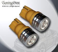 (1 Pair) Set of 2 pcs High Beam Indicator T10 High Power Amber LED Bulbs 161