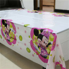 Minnie Mouse Birthday Party Tablecloth Girls Decoration Tableware Kid Tablecover