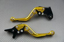 Kurz Hebel Bremshebel Kupplungshebel gold CNC Suzuki GSXF 600 750 Katana 1998-06