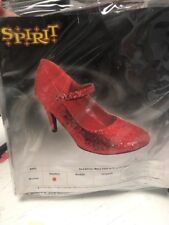 New Spirit Women 's Red Glitter Maryjane Size 7 Dorothy Wizard of Oz
