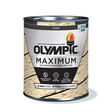 Olympic MAXIMUM Clear Exterior Waterproofing Sealant 1 Qt. Wood Deck Stain