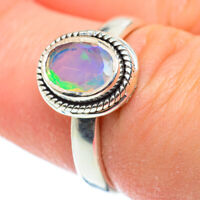 Ethiopian Opal 925 Sterling Silver Ring Size 7.5 Ana Co Jewelry R52238F