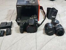Sony Alpha a77 II 24.3MP Digital SLR Camera AF Zoom 28-105 and DT 3.5-5.6/18-55