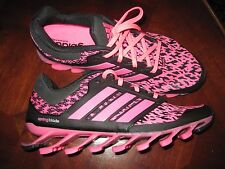 ADIDAS SPINGBLADE DRIVE RUNNING SHOES C77559 PINK BLACK WOMEN'S SIZE 10 NWOB