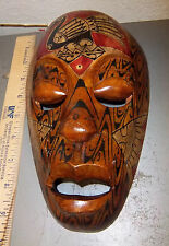 Wood Tribal Style Africa Mask, hand carved, 9.75 x 5.75, fantastic reproduction
