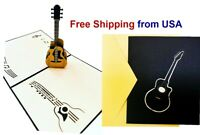 3D Pop Up Greeting Card Guitar for Valentine's Day Anniversary Love Birthday