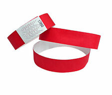 100 BRACCIALETTI TYVEK - Braccialetti - Braccialetti Evento - Rosso/Red / Rosso