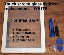 For iPad 3/4   A1416 A1430 A1403 WHITE Touch Screen Digitizer Glass Replacement