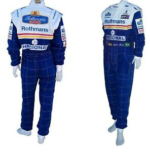 Ayrton Senna Rothmans 1994 replica embriodery patches race suit all size
