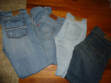 Mens Jeans Lot 4 Size 34 X 30 and 32 x 30 American Eagle Hollister Aero Levis