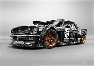 Ken Block - Ford Mustang Hoonigan Sports Car Wall Art Poster / Canvas Pictures