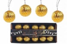 set of 10 vintage retro style KASBAH GOLD XMAS LED decorative party fancy lights