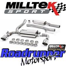 "Milltek Focus RS MK3 Exhaust System 3"" Cat Back Resonated Polish & EC Approved"