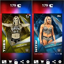 Topps WWE SLAM Digital 2017 Then & Now Charlotte Flair 2,205CC
