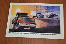 ★★1984 CHEVY TRUCK C70/KODIAK CAB /TANKER ORIGINAL DEALER PROMO POSTCARD 84★★