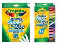 Crayola  Super Tips Washable Markers Pack of 12 , 24  - FAST & FREE DELIVERY.