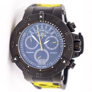 Invicta Sabaqua Noma III Black & Yellow Silicone Men's Quartz Watch 10185