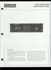 Original Factory Altec Lansing 1698 Amplified Monitor Panel Owner's Manual