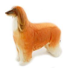 COLLECTIBLE Lomonosov Porcelain Dog Afgan Red Orange RUSSIAN stamped LFZ GENUINE