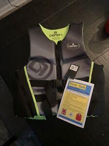O'Brien Watersports Mens Flex V-Back Life Jacket, Yellow, Size XL