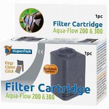 Superfish Aqua Flow 200 300 Easy Click Carbon Dual Action Filter Cartridge 1pc