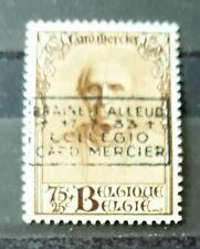 COB/OBC 374C * MH - Cardinal Mercier 75c+25c surcharge Braine-l'Alleud  cote 25€