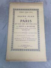 Paris vers 1675: GRAND PLAN DE PARIS ET DE SES ENVIRONS. Par Jouvin de Rochefort
