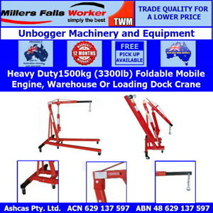 Millers Falls TWM Heavy Duty Foldable Hydraulic Engine Crane 1500kg (3307lb)