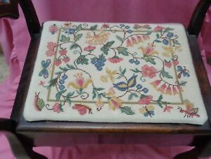 1920s Tapestry Upholstered Needlework, Dressing Table, Piano Stool Southend