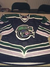 New HOUSTON AEROS Blue AUTHENTIC Pro 54 Sp JERSEY FIGHT STRAP Vhtf Ihl Hockey