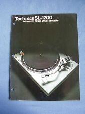 Technics SL-1200 Plattenspieler by Panasonic Direct-Drive Turntable Prospekt 74