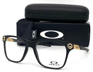 OAKLEY APPARITION OX8152-0455 Stain Black Gold / Demo Lens 55mm Eyeglasses