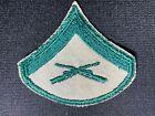 US Marine Corps Green on Tan Lance Corporal Rank Chevron Patch USMC Women's