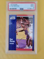 Karl Malone Utah Jazz 1991-92 Fleer Card #201 PSA 9 MINT HOF 🔥 Stockton POP 7!