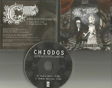 CHIODOS Lexington RADIO EDIT PROMO DJ CD single D.R.U.G.S.  w/ PRINTED LYRICS