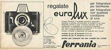 W8306 Macchina Fotografica EURALUX - Ferrania - Pubblicità 1962 - Advertising