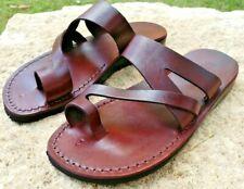 New Jesus Leather Thongs Outdoor Sandals Women Men Flip Flops Roman Greek Slides