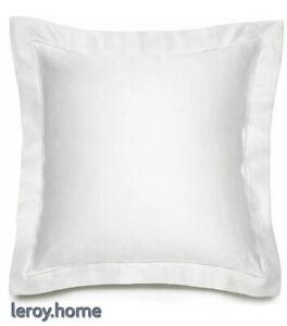 Ralph Lauren 624 Langdon Solid Euro Sham $130 Deco White
