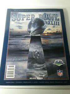Official program-Super Bowl XLIII (43)-Pittsburgh Steelers/Arizona Cardinals-NEW