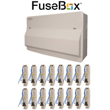 Fusebox 20 Way SPD Metal Consumer Unit with 16 RCBOs 100A Main Switch RCBO Board