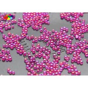 100000 pcs 12g Glass Dark Rose AB Micro Beads small No Hole 0.6-0.8mm Nail Art